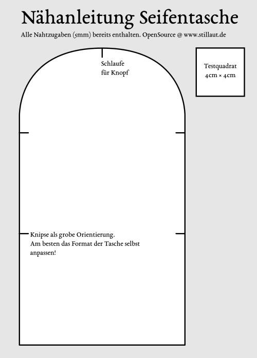 Seifentasche PDF-Anleitung